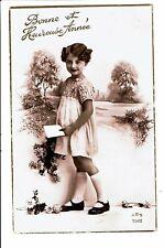 CPA-Carte Postale Belgique-Bonne  année-Une fillette portant une lettre -1938?