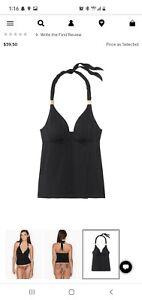 Victoria's Secret Pushup Tankini Black Pelosa XL