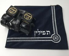 High Quality Tefillin Sephardic Jewish Kosher Sefaradi Tefilin Phylacteries +Bag