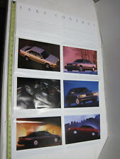 "1992 Audi Sales Brochure combination Fold-Out Poster 32"" auto car vintage paper"