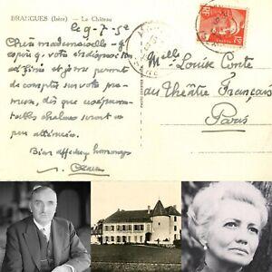 🌓 CAS Paul CLAUDEL L'Otage JEAN MARAIS 1952 Comédie Française LOUISE CONTE #1