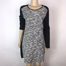 Gap Women's Two Tone Black/ White   Long Sleeve Sweater Dress Size Large