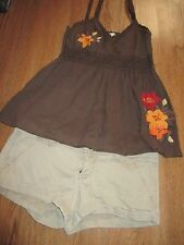 Jr. Girls Lot, Hollister Khaki Shorts, 3, Girl Krazy Embroidered Crochet Top, M