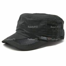 Men's Classic Summer Army Hat Military Cadet Patrol Style Brim Spring Summer Cap