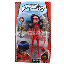 27CM Miraculous Ladybug Girl Doll Musical Light Movable Joints Action Figure Toy