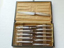12 couteaux à dessert ALFENIDE Christofle en métal argente style Louis XVI N°735