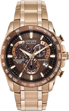Citizen Men's Eco Drive Rose Gold Perpetual Chorno AT Atomic Watch AT4106-52X
