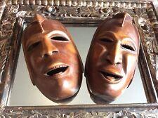 Vintage Wooden Ethnic Face Masks