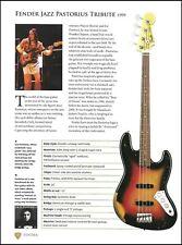 Jaco Pastorius Fender Jazz Bass Tribute + Rush Geddy Lee guitar article w/ specs