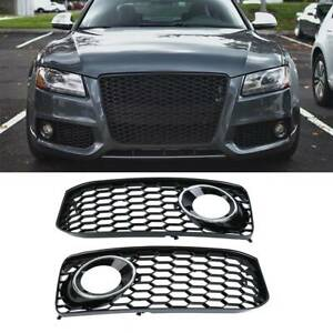 RS5 CHROME GRILLE INSERT 110MM For S LINE QUATTRO ETC Emblem Badge Stickers Decals Fender Rear Front Hood Side Crest Body with Strong 3M For RS S LINE AMDCO pack of 1