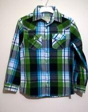 TU - VARSITY ATHLETICS Boys Green/White Plaids Shirt Age 12yrs, 152 cm