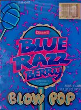 Charms Blow Pop Blue Razz Berry  48 Count A Fat Free Candy