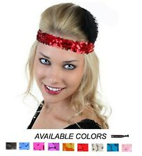 TEAM SETS Stretch Sequin Headbands Softball Cheerleading Dance Sports Wholesale