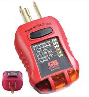 Electric Outlet Tester GFCI 125V Display Lights Reading GFI Test Safety Reading