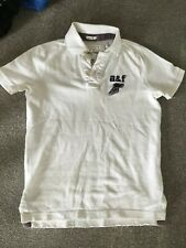Abercrombie &Fitch A&F White Boys Polo Top Medium 10-12
