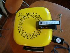 Hoover Electric Fry Pan ~ Broiler, Warming Tray, Lid #B3009 70's Yellow 1973