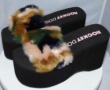Rocket Dog Womens Boom TF Platform Sandals Black Uk4 Free P&P