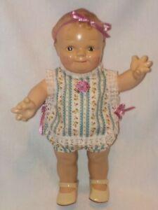 """15"""" Vintage Composition Kewpie Scootles  Doll Dressed"""