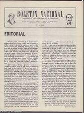 BOLETIN NACIONAL / PARTIDO NACIONALISTA DE PUERTO RICO / NEWSLETTER / JUL 1981