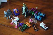 lot 11 used toys 1994 piston black car McDonald's Floating bath toy Elephant man