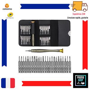 Kit de 25 Mini Tournevis Outils de Réparation iPad iPhone Montre Bijou Précision