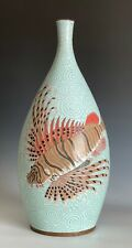 "New listing Large Fabienne Jouvin France Cloisonne Enamel Vase 19"" Tall"