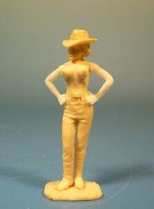 Lineol - Wild West Cowgirl Erotik - 75mm Figur Bausatz - Resin Kit 1:24