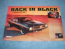 "1970 Pymouth Hemi Cuda RestoMod Article ""Back in Black"""