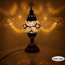 Mosaik Tischlampe Türkei Mosaiklampe 100% Handgearbeitet Orientalische Lampe M