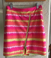 Womens EP Pro Golf Skirt Skort 0 Pink White Neon Yellow Orange Zipper