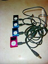 "SET OF 4 "".MP3 PLAYERS W/ DIGITAL LCD SCREEN MINI CLIP 32 GB """