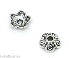 500 Perles calotte Coupelles Caps Fleur Motif 10x4mm