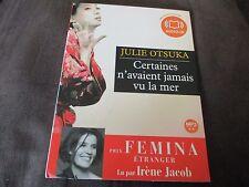 """LIVRE AUDIO """"CERTAINES N'AVAIENT JAMAIS VU LA MER"""" lu par Irene JACOB (1 DISQUE)"""