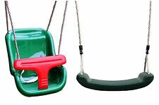 Green Baby Toddler Swing Seat with FREE Kids / Children's / Childs Swing
