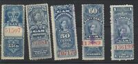 10 different Used Canada Gas Inspection Stamps (2 Scans) (Lot #RR110)