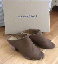Lucky Brand LK-Organza Nubuck Leather Open Toe Mule Heel Women's Shoe Size 5.5 M