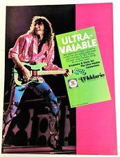 Steve Vai / David Lee Roth Band / D'Addario Guitar Strings Magazine Print Ad