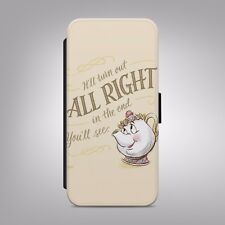 Beauty And The Beast Disney Mrs Potts FLIP PHONE CASE COVER fits IPHONE SAMSUNG