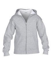 Gildan Kids Zip Hooded Sweatshirt -Heavy Blend-Gildan Youth Full Zip Hoodie S-XL