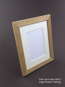 Any Custom Size Modern Solid Oak Natural Wood Picture Photo Frame, Made To Order