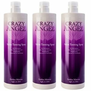 Crazy Angel Midnight Mistress 6% DHA 1L Fake Spray Tan Special Offer 3 for 2
