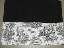 BLACK HAND TOWELS Black & White French Country Guest Toile Bathroom Kitchen