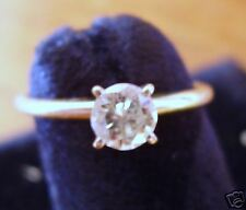 1/3 carat brillant round DIAMOND 14K yellow  Gold Ring estate 5 1/2 CAN RESIZE