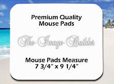 5 Blank White 1/4 Plain Mousepad 7.75x9.25 Sublimation Heat Transfer Mouse Pad