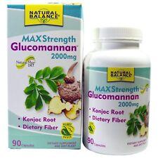 Glucomannan, Konjac Root, Maximum Strength, 90 Capsules -  Natural Balance
