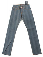 Nudie Damen Jeans | Slim Straight Fit |Super Slim Kim Dry Stripe |W27 L32