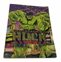 Vintage Collectible 2002 The Incredible HULK coloring & activity book by Marvel