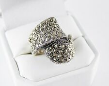 Genuine Marcasite Ring in 925 Sterling Silver Size 7.5