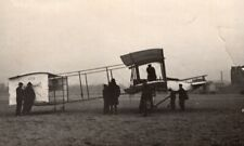 France Aviation Henry Farman No1 Biplane Airplane old Photo 1907
