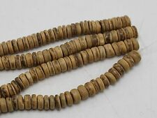 """2 Strands of 16"""" Natural Coconut Rondelle Beads 8mm"""